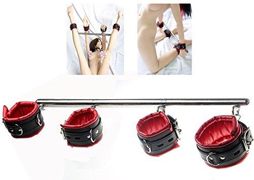 Fesselstange, verstellbar: Handfesseln und Fußfesseln mit Fesselstange aus Metall